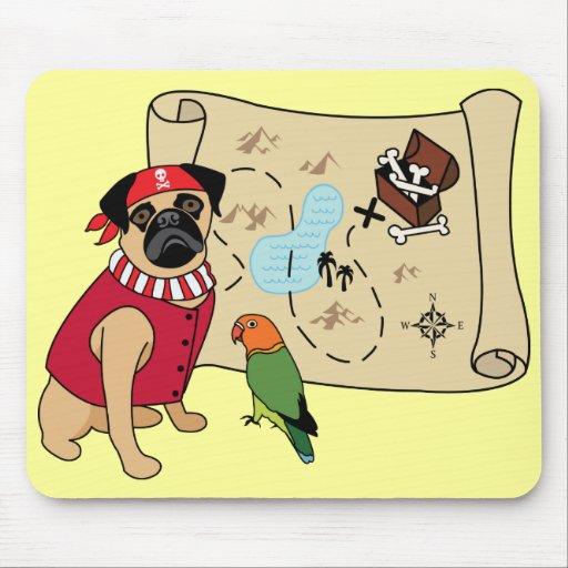 Pirate Pug Mousepad - Customizable - ARRGGHH