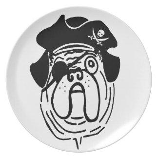 Pirate Pug Dinner Plates