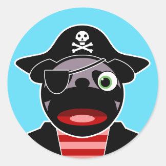 Pirate Pug Sticker