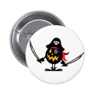 Pirate Pumpkin Pinback Buttons
