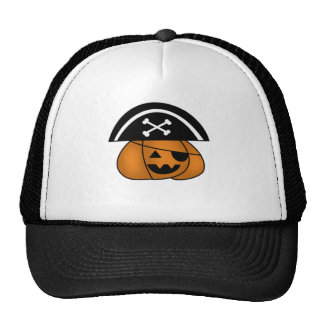 Pirate Pumpkin Mesh Hats