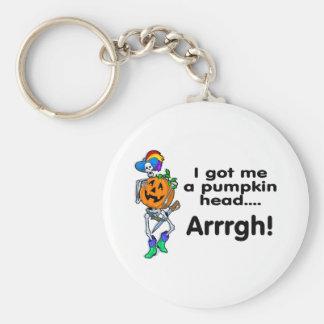 Pirate Pumpkin Key Chains