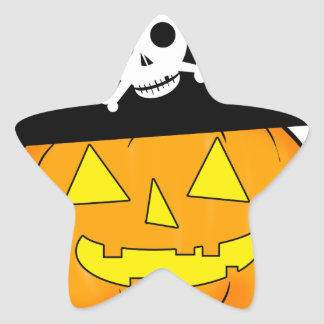 pirate pumpkin star sticker