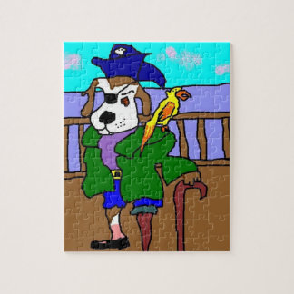 Pirate Pup Pete And Parrot Josephine Jigsaw Puzzle