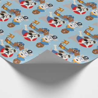Pirate Puppy All Occasion Wrapping Paper