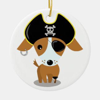 Pirate Puppy Ceramic Ornament