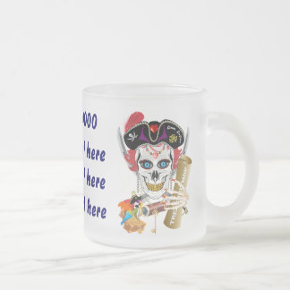 Pirate Queen 2 Different Designs View About Design Frosted Glass Coffee Mug