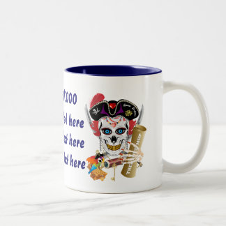 Pirate Queen 2 Different Designs View About Design Two-Tone Coffee Mug