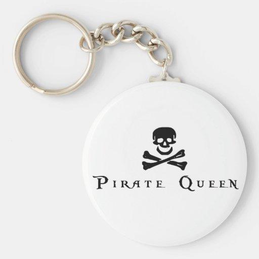 Pirate Queen Basic Round Button Keychain