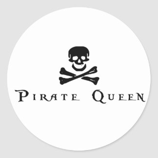 Pirate Queen Classic Round Sticker