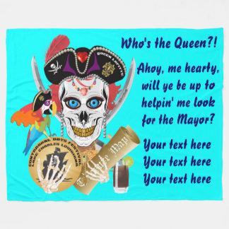 Pirate Queen Important Read About Design Fleece Blanket