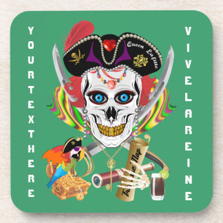Pirate Queen Lafitte All Styles View Hints Beverage Coaster