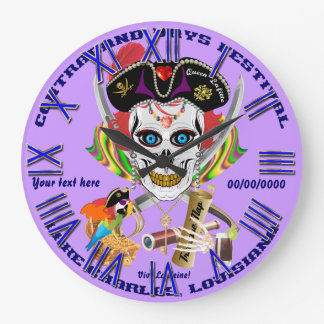 Pirate Queen Lafitte All Styles View Hints Wall Clock