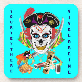Pirate Queen Lafitte All Styles View Hints Drink Coaster