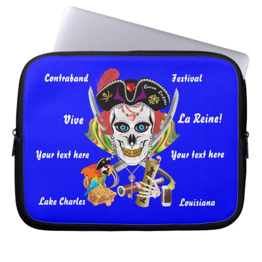 Pirate Queen Lafitte All Styles View Hints Laptop Sleeve
