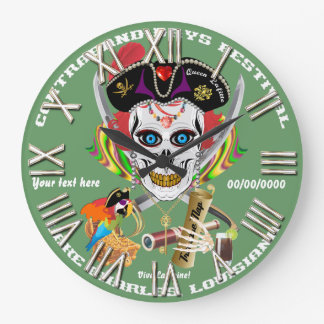 Pirate Queen Lafitte All Styles View Hints Large Clock
