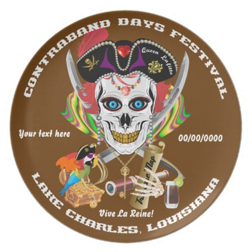 Pirate Queen Lafitte All Styles View Hints Dinner Plate
