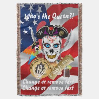 Pirate Queen Lafitte Important Read About Design Throw Blanket