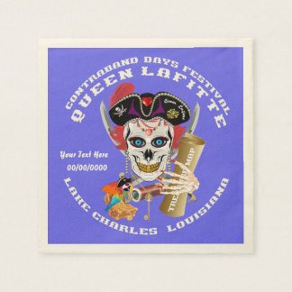 Pirate Queen Lafitte Important View About Design Paper Napkin