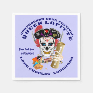Pirate Queen Lafitte Important View About Design Disposable Napkins