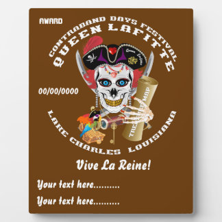 Pirate Queen Lafitte Important View About Design Plaque