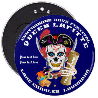 Pirate Queen Lafitte View About Design Pinback Buttons