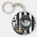 Pirate Queen, My Lady...original art Basic Round Button Keychain