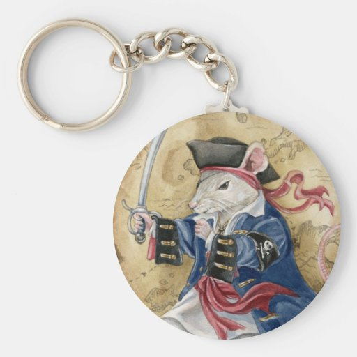 Pirate Rat anthro keychain by Meredith Dillman