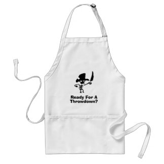 Pirate Ready For A Throwdown Adult Apron