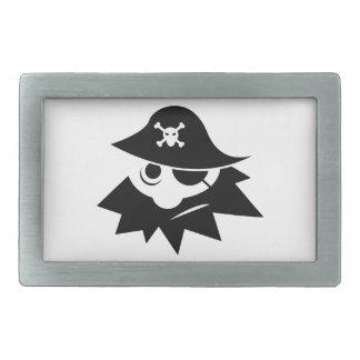 Pirate Rectangular Belt Buckle