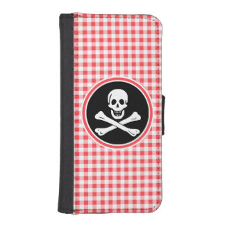 Pirate; Red and White Gingham Phone Wallets
