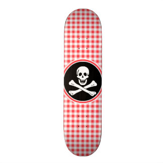 Pirate Red and White Gingham Skateboard Decks