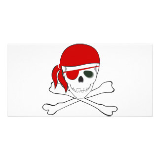 Pirate + Red Bandana Photo Card