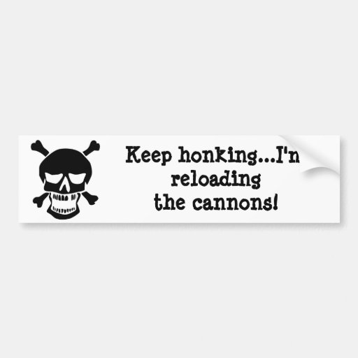 Pirate Reloading the Cannons Bumper Stickers