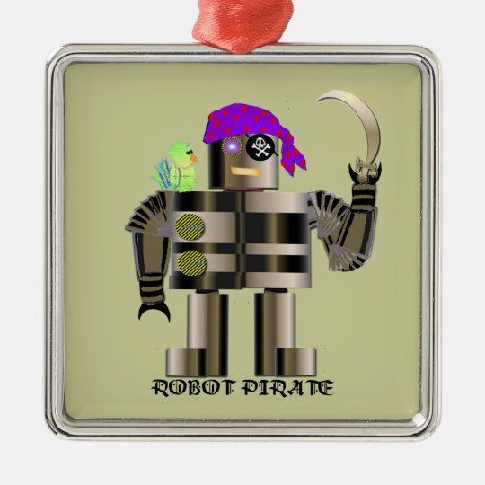 Pirate Robot Ornament