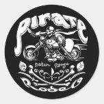 Pirate Rodeo II Round Stickers