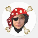 Pirate Round Sticker