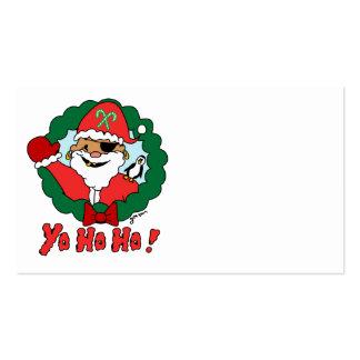 Pirate Santa Business Cards