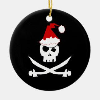 Pirate Santa Ceramic Ornament