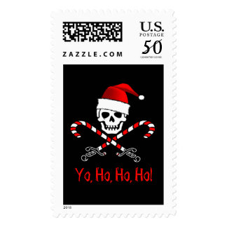 Pirate Santa Christmas Postage Stamps