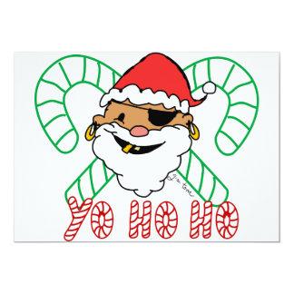 Pirate Santa Emblem Card