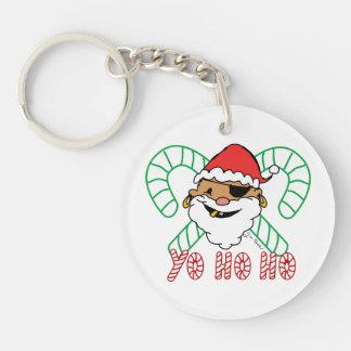Pirate Santa Emblem Keychain