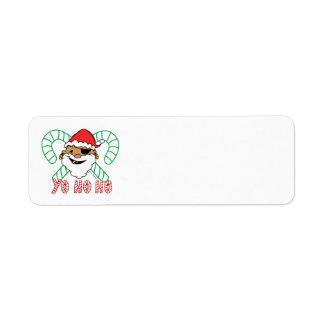 Pirate Santa Emblem Label