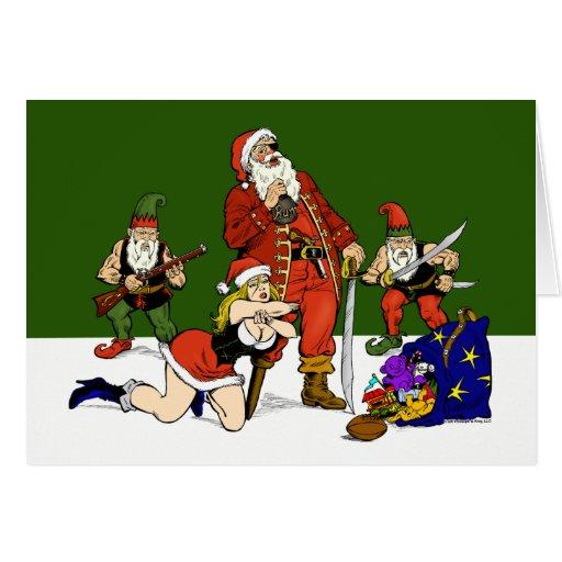Pirate Santa Holiday Card