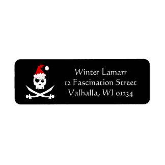 Pirate Santa Label
