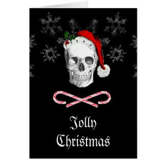 Pirate Santa Skull Jolly Christmas Card