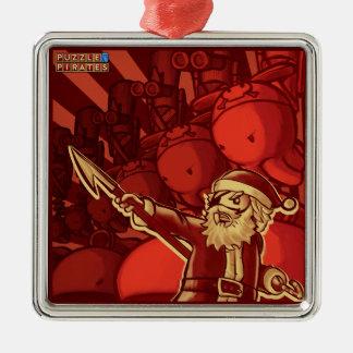 Pirate Santa Tree Trinket Metal Ornament