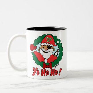 Pirate Santa Two-Tone Coffee Mug