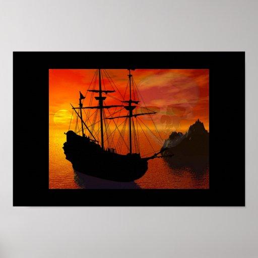 Pirate Scape Poster