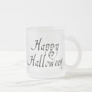 Pirate Scrawl Happy Halloween 10 Oz Frosted Glass Coffee Mug